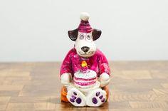 Birthday Decoration Vintage Dog Figurine by LittleRiverVintage