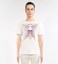 MILA FARGO | ANGEL FEATHER SKULL WHITE | ECOLUXE SS16/17 MENSWEAR