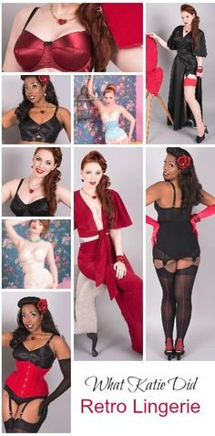 Valentines Day Retro Vintage Lingerie from What Katie Did. We love it all.