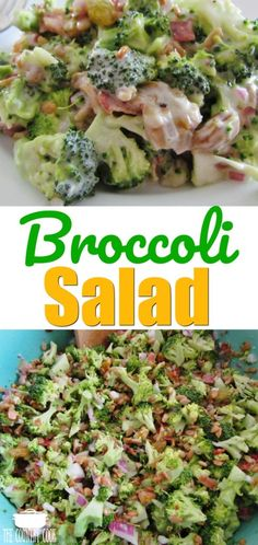 Broccoli Salad with Creamy Sweet Dressing recipe from The Country Cook #recipes #salads #ideas