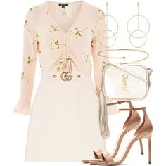 Untitled #2510 by mariandradde on Polyvore featuring moda, Topshop, Gucci, Yves Saint Laurent, Accessorize and Elsa Peretti