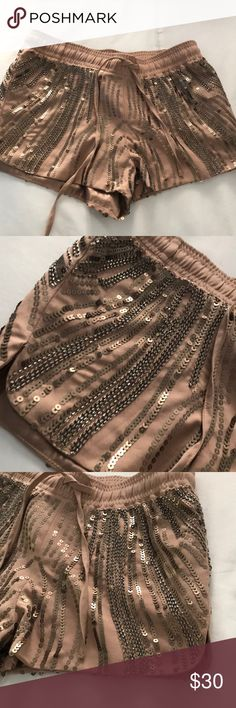 Sequin short shorts Sequin short shorts ..  Perfect condition never worn all sequins are still on Mustard Seed Shorts