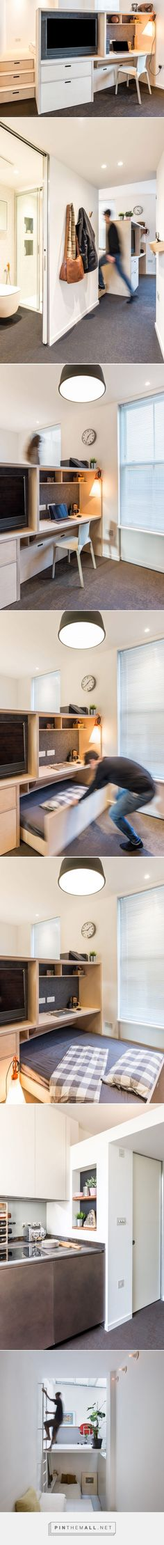 CIAO adds space-saving custom furniture to London micro apartment - created via https://pinthemall.net