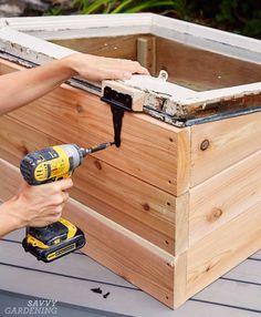 DIY cold frame: Step 6
