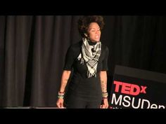 Words make worlds: Dominique Ashaheed at TEDxMSUDenver - YouTube