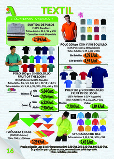 Página 16 - Textil II #FruitoftheLoom #SG #Gildan #B&C
