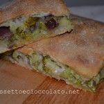 Schiacciata+con+broccoletti,+cipolle+e+olive+alla+catanese+(con+lievito+madre)