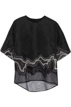 3.1 Phillip Lim Embroidered jacquard top   THE OUTNET