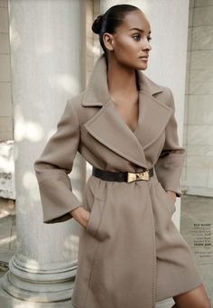 divalocity:  The Wrap Coat Is Perfect For Fall. Gracie Carvalho for Nordstrom Holiday Catalog