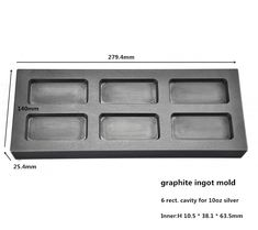 graphite ingot mold  for 10oz Silver bar casting      /high pure graphite mold    ,FREE SHIPPING