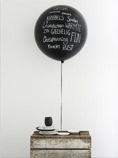 black.balloon and white pen.