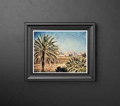 Palm Trees at Big Bend National Park Texas Grunge Distressed Photography Print Wall Decor Art Photo Dramatic Art by SusanGottbergPhotos on Etsy