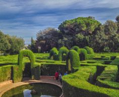 """At the historical Parc del Laberint d'Horta you can find the hedge maze that gives the park its name, made by trimmed cypress trees. This garden was used to shoot a scene of the motion picture """"Perfume: The Story of a Murderer"""" from director Tom Tykwer #Europe #Spain #Barcelona #park #garden #beautiful #photography #art #historic #imoutoftheoffice #travel #world #movie #tree #maze"""