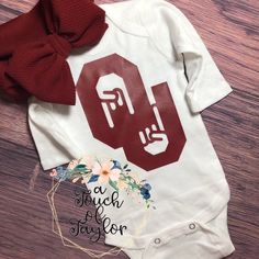 Your place to buy and sell all things handmade Football Onesie, Football Team, Baby Shower Gifts, Baby Gifts, White Bodysuit, Love Craft, Long Sleeve Bodysuit, Number One, Heat Transfer Vinyl