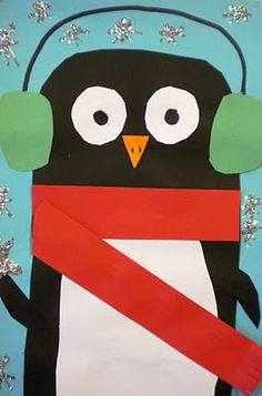 Penguin art project for kids - great for winter Grade 1 Art, First Grade Art, Winter Art Projects, School Art Projects, Kindergarten Art, Preschool Art, Preschool Winter, Winter Fun, Winter Theme