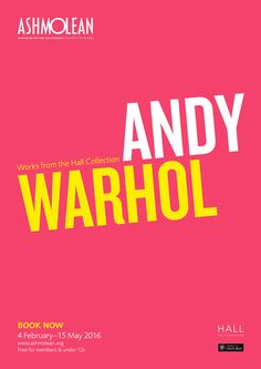 Andy Warhol: Works from the Hall Collection - open until 15 May 2016 at the Ashmolean Museum, Oxford. Find out more: http://www.ashmolean.org/exhibitions/andywarhol/ #AshmoleanWarhol #AndyWarhol #Warhol