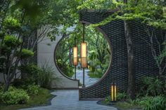 Awesome garden entrance decoration ideea for those who like the eastern style pergola entrance Garden Entrance Garden Entrance, Garden Arbor, Terrace Garden, Walled Garden, Garden Gate, Landscape Architecture, Landscape Design, Architecture Design, Chinese Architecture
