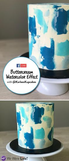 Learn how to make a gorgeous buttercream watercolor effect on your cakes! Click to watch our Facebook Live with Australian baker Karlee of Karlee's Kupcakes!