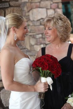 Mother of the Bride and with her daughter - and fabulous wedding day hair! #weddings