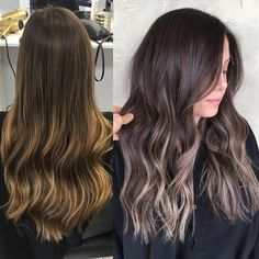 Dark chocolate brown with some ash blonde dimension ✨assisted by @hairby_danielmillsaps #babylights #sombre #darkbrownhair #darkbrownbalayage #hairpainting #balayage #lowlights #beigeblonde #ashblonde #fallhair #hairinspo #hairbybrittanyy