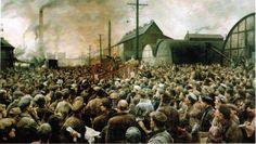 Isaak Brodsky (1883-1939), Discours de V.I. Lénine au meeting des ouvriers de l'usine Poutilov en mai 1917, 1929, musée national d'histoire