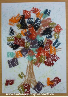 PODZIMNÍ KRAJKOVÝ STROM Crafts, Painting, Free Time, Ideas, Autumn, Painting Art, Crafting, Handmade Crafts, Paint