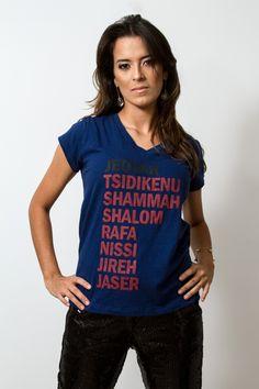 Nomes de Deus - Feminino - Camisetas cristãs
