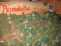 In mühevoller Kleinarbeit baute Melanie Stadlmeier ein Modell von Sepp Holzers Permakultur