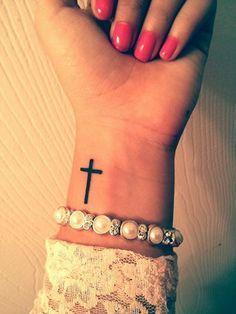 simple cross tattoos on wrist - Google Search