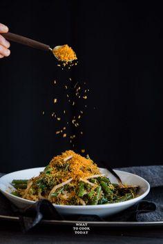 Urap Sayur (Salad with Spiced Grated Coconut Topping) #AsianSaladFeast #glutenfree #vegan