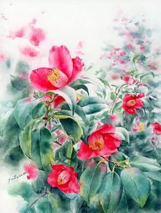 Transparent watercolor painting