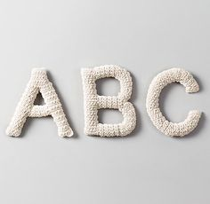 letters, crochet. so cute for kids' rooms - rhbabyandchild