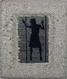 Titolo( Lo scorcio della seduzione) Mosaico in marmi  63x73 Anno 2015