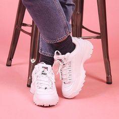 best loved 99dfa d463d Fila Disruptors, Baskets Nike, Fresh Kicks, Sock Shoes, Shoes Heels, Vintage
