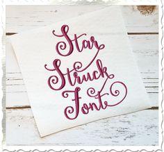 $4.95Star Struck Machine Embroidery Font Alphabet