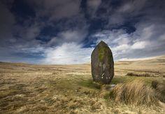 Maen Llia Standing Stone, Brecon Beacons, Wales. Mari Owen Photography