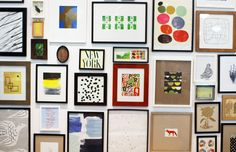 @west elm headquarters and feature on creative director Vanessa Holden // gallery wall