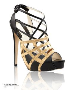 "Gold Cage Sandal - $119.99 (mention ""Kristi"" & save 10$)"