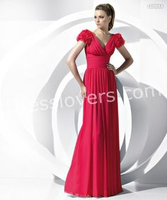 Beautiful Red Bridesmaid dress with Short Sleeves 2012 New