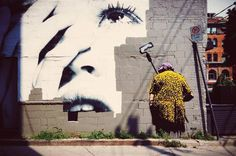Street art on King and Portland in Toronto, Canada by Evgeny Tchebotarev