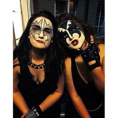 Badass costume alert! What you need to do: Get other friends to slap on Kiss's trademark makeup, throw in s...