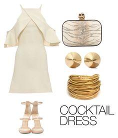 """Cocktail Dress"" by olivia548 ❤ liked on Polyvore featuring David Koma, Alexander McQueen, Giuseppe Zanotti, Eddie Borgo and Black & Sigi"