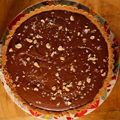 Kelsey Nixon's Chocolate Peanut Butter Tart Recipe: the crust is made from Nutter Butters! | Rachael Ray Show