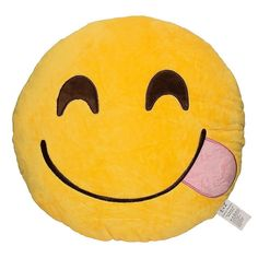 This soft plush emoji pillow is an excellent conversation piece for any home. The detail that is put into this pillow mimics the actual emoticon. It makes a great gift for loved ones or a great home d