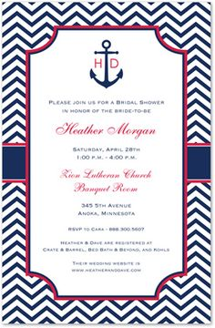 6ff5f76d766b Sailing Into Marriage Anchor Nautical Wedding Invites - Stationery Invite.  MyExpression.com