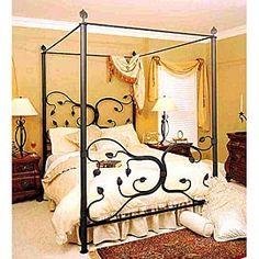 Stone County Ironworks Eden Isle Canopy Full Bed