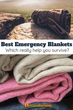 Best Emergency Blankets: Which Blanket Will Really Help You Survive? Whether youre building a car emergency kit bug out bag or disaster supplies stockpile you will need some way to stay warm. For many this means getting an emergency blanket. Survival Supplies, Survival Prepping, Emergency Preparedness, Survival Skills, Survival Hacks, Survival Quotes, Emergency Kits, Emergency Supplies, Survival Weapons