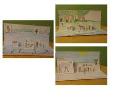 art craft pop-up for arctic, forest, savanna, ocean, desert, pond and rainforest. $