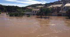 Após chuvas, rio começa a baixar em São Luiz do Paraitinga, SP - Infotau