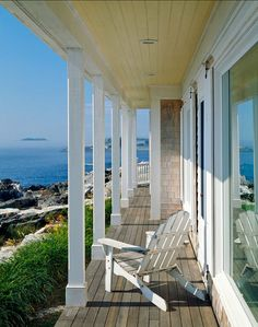 seaside porches | Beach Cottage Porch with Ocean View ..